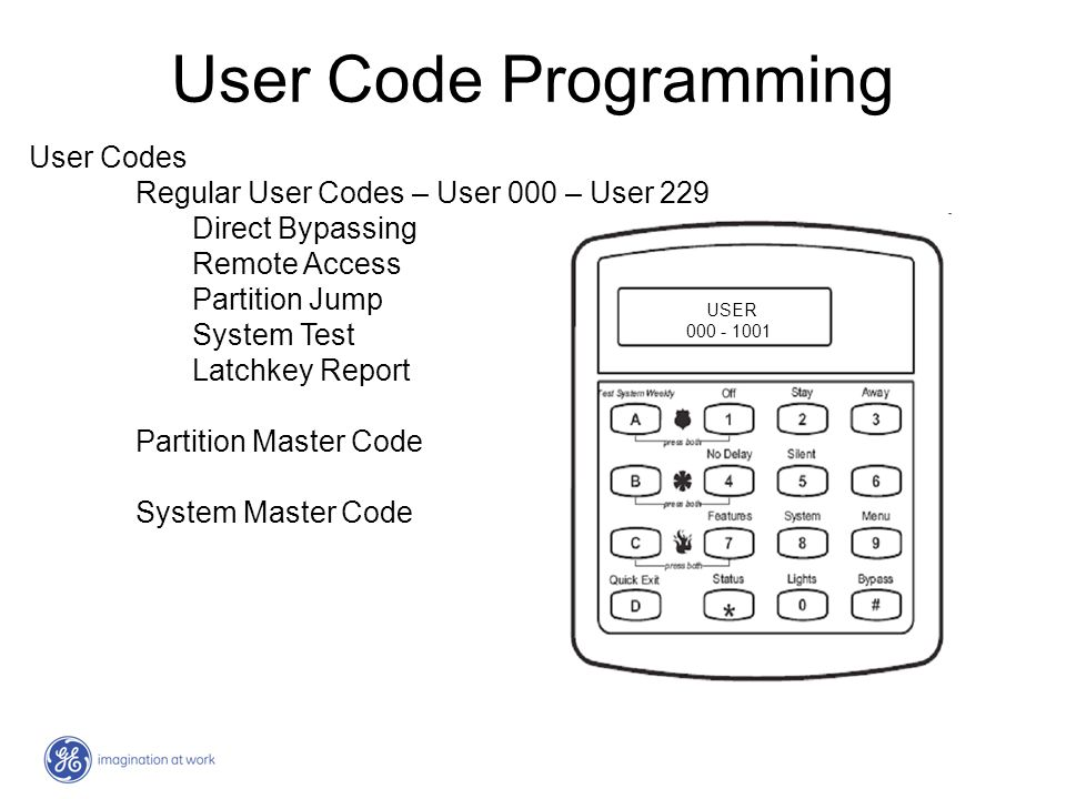 User Code Programming User Codes