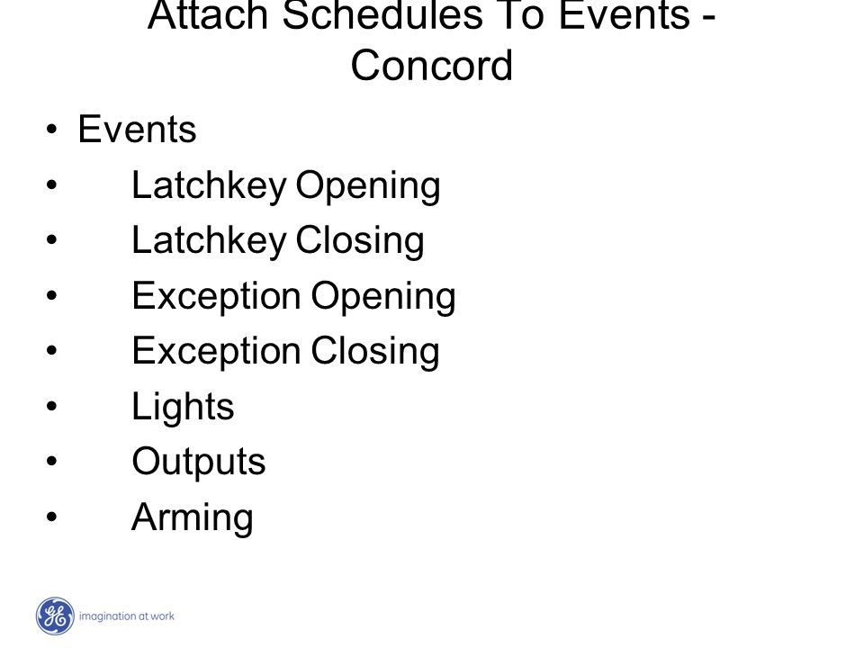 Attach Schedules To Events - Concord