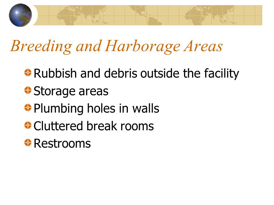 Breeding and Harborage Areas
