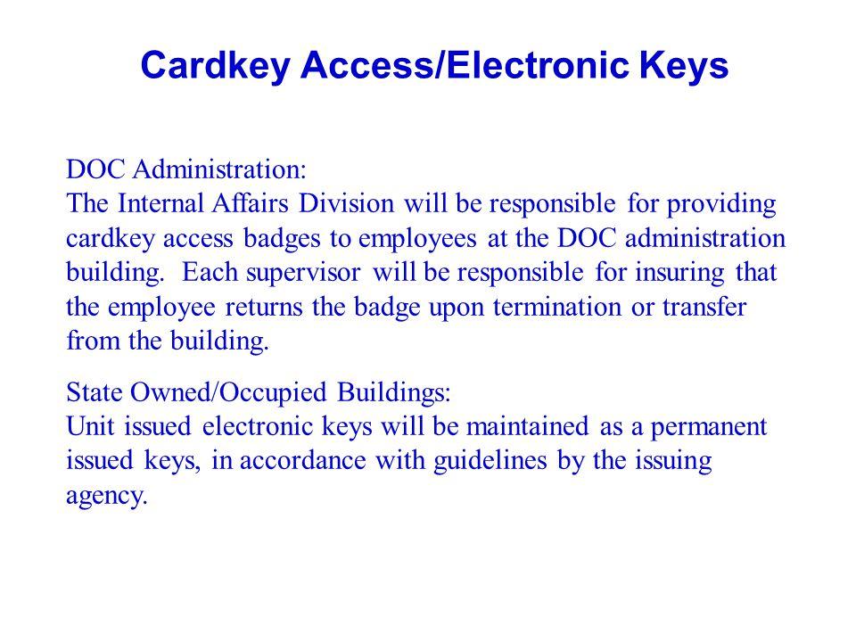 Cardkey Access/Electronic Keys