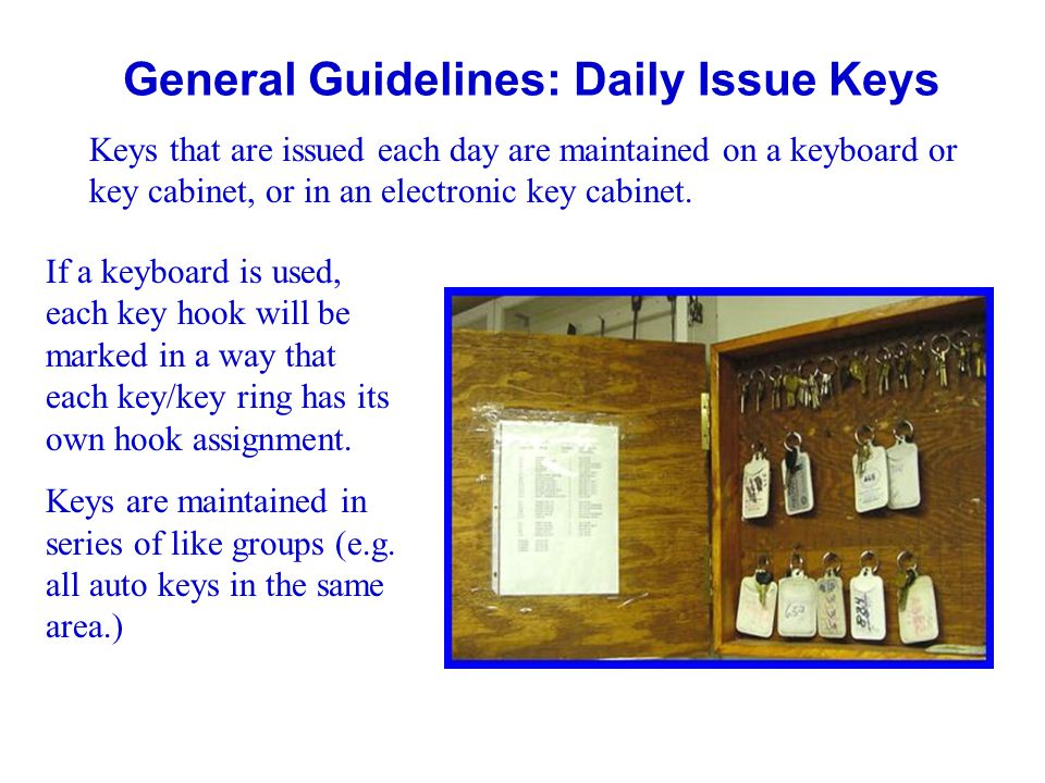 General Guidelines: Daily Issue Keys