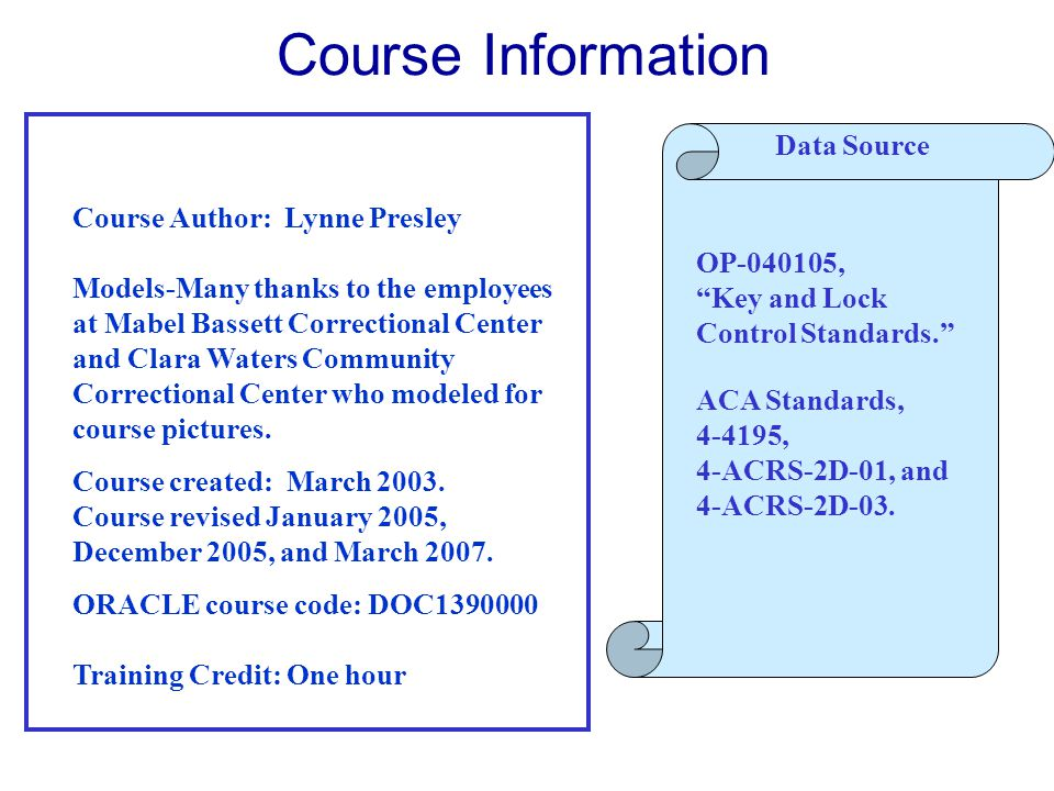 Course Information Data Source