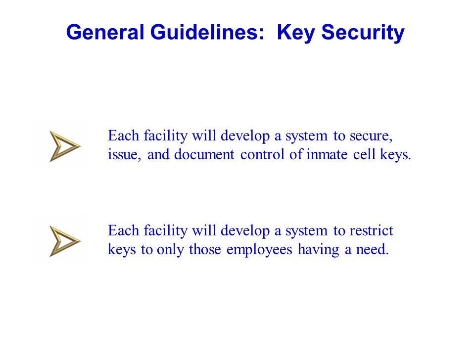 General Guidelines: Key Security