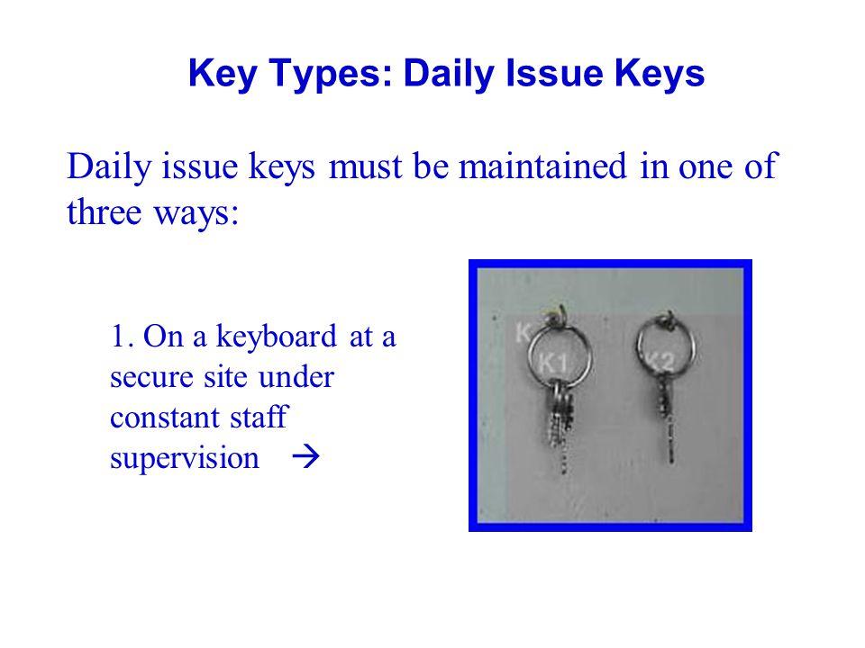 Key Types: Daily Issue Keys