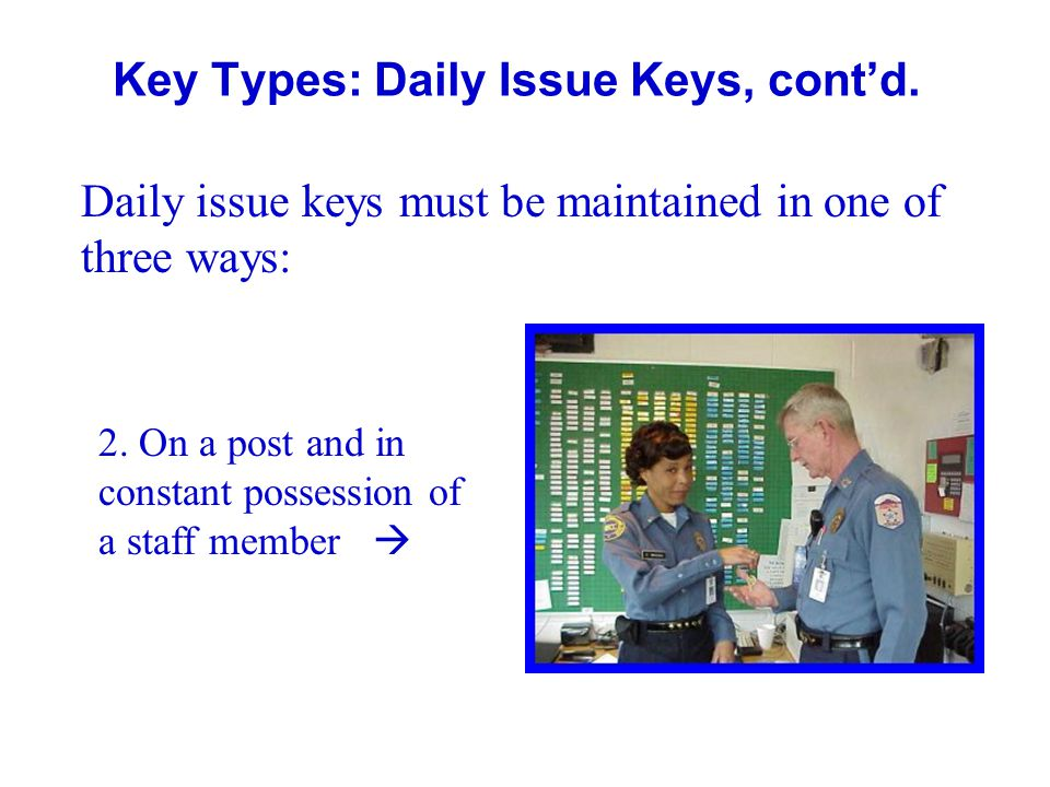 Key Types: Daily Issue Keys, cont'd.