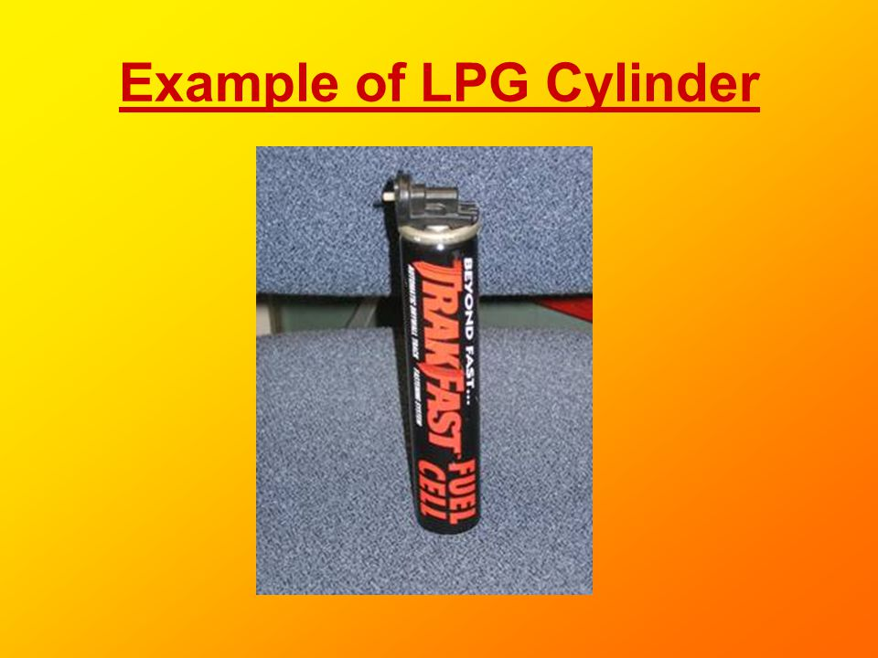 Example of LPG Cylinder