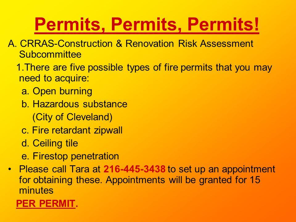 Permits, Permits, Permits!