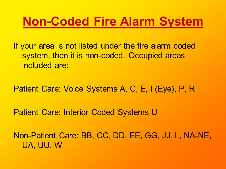 Non-Coded Fire Alarm System