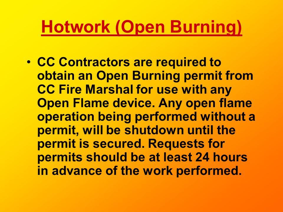 Hotwork (Open Burning)