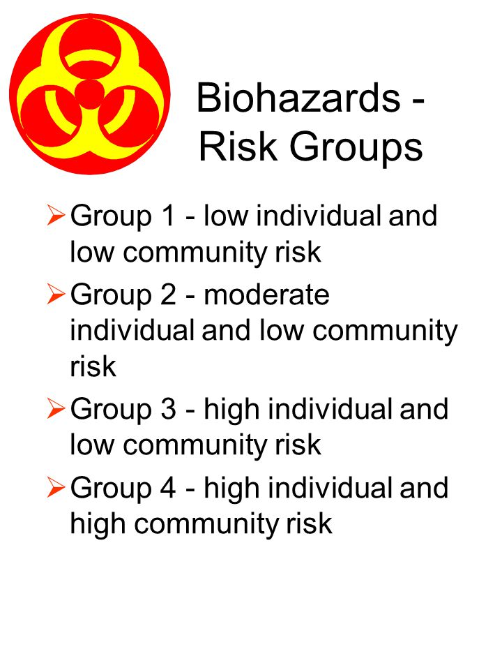 Biohazards - Risk Groups