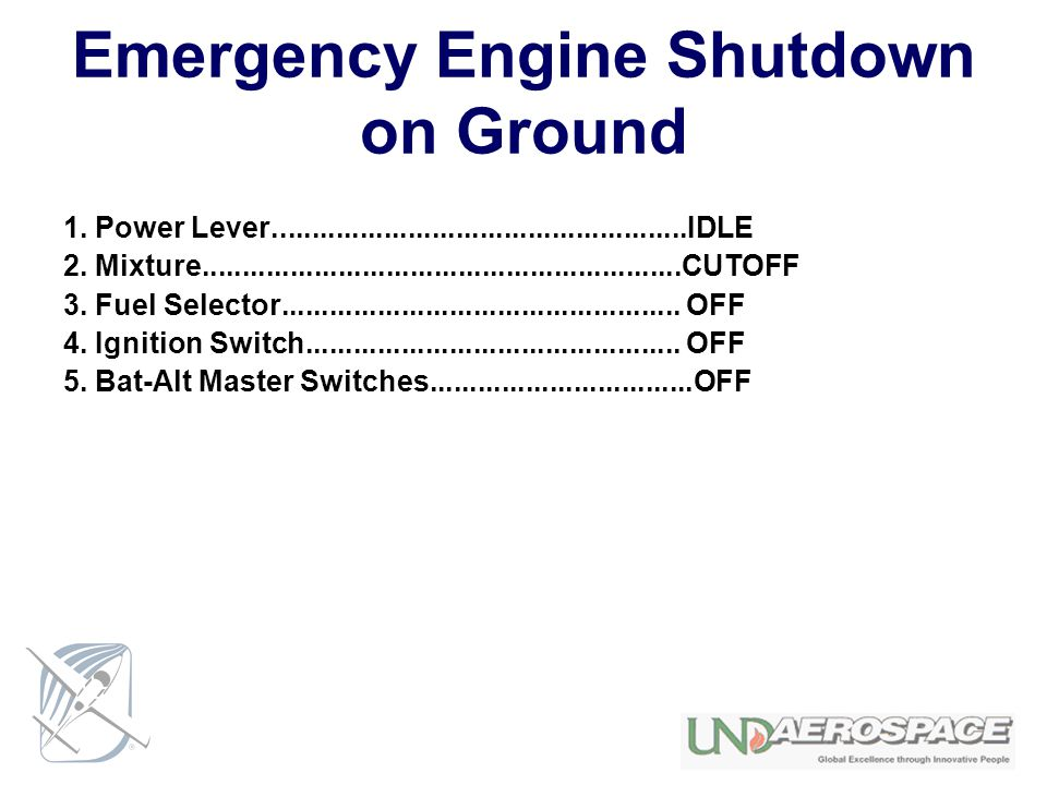 Emergency Engine Shutdown on Ground