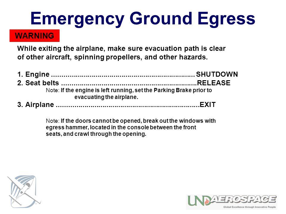 Emergency Ground Egress
