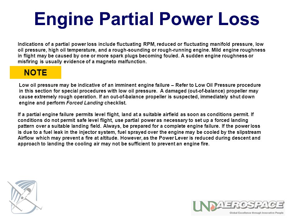 Engine Partial Power Loss