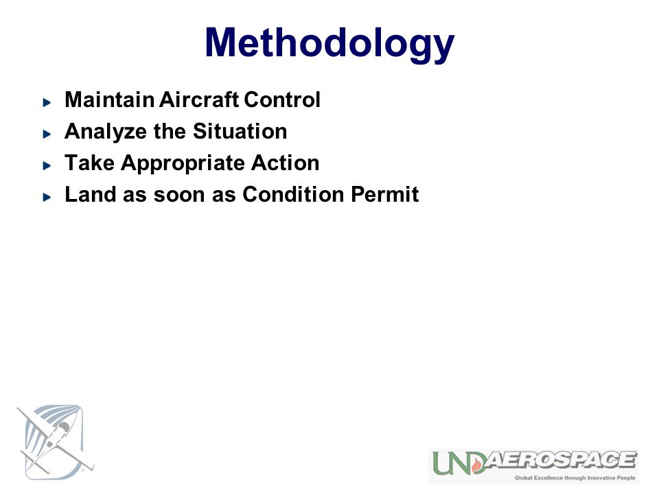 Methodology Maintain Aircraft Control Analyze the Situation