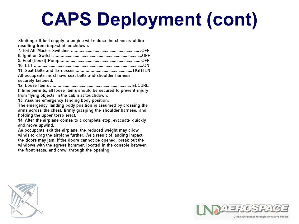 CAPS Deployment (cont)