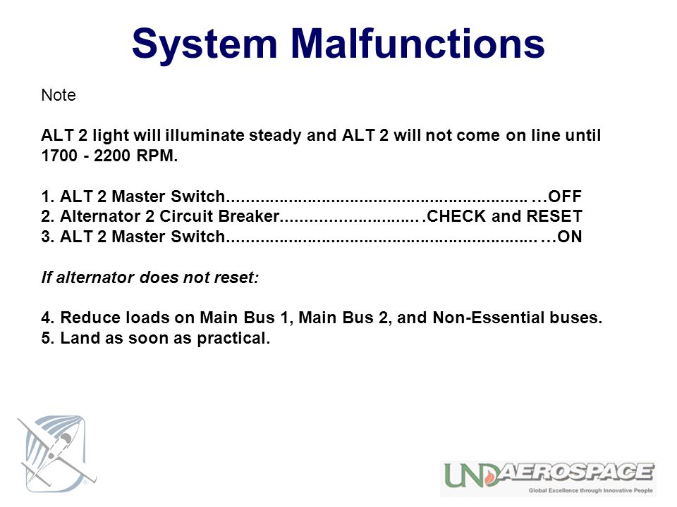 System Malfunctions Note