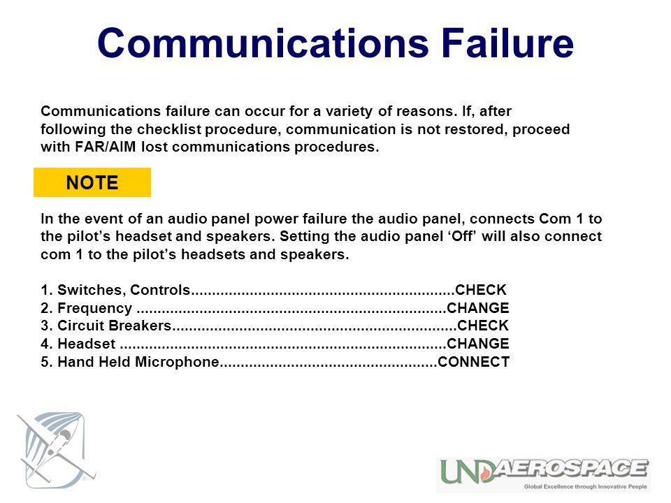 Communications Failure