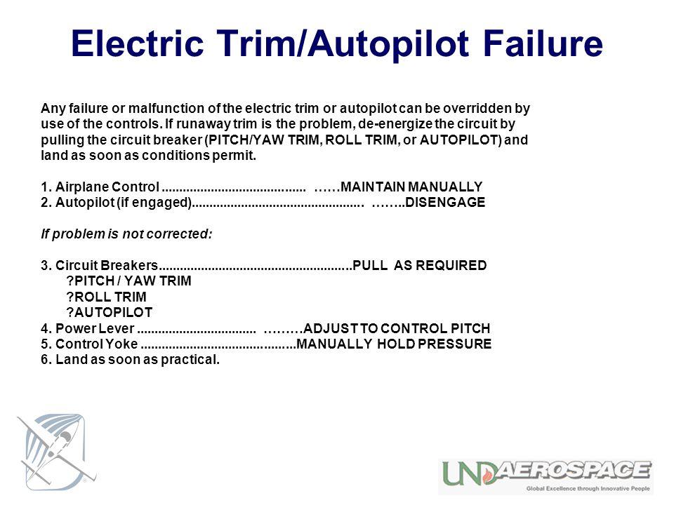 Electric Trim/Autopilot Failure
