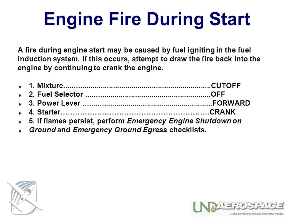 Engine Fire During Start