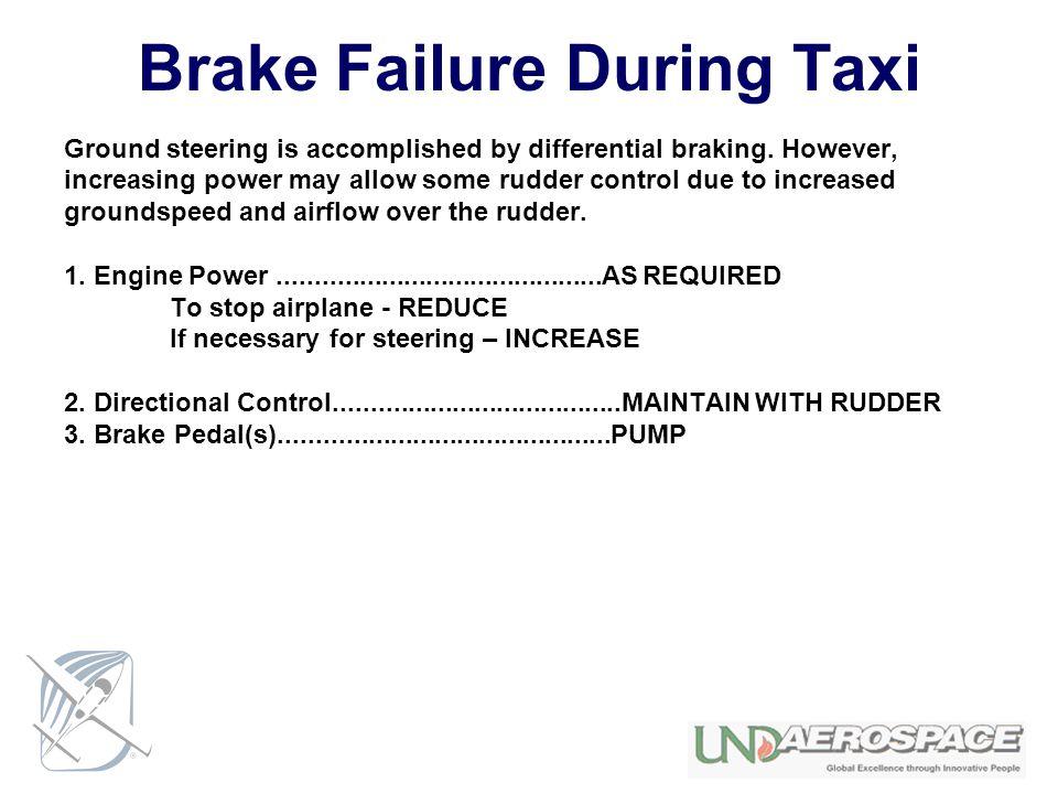 Brake Failure During Taxi