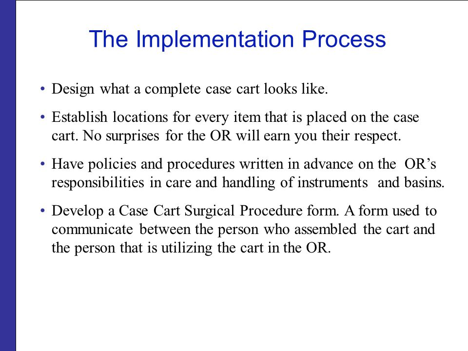 The Implementation Process