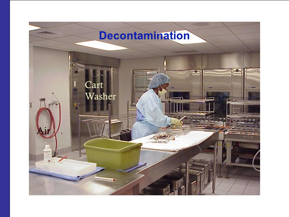 Decontamination Cart Washer Air