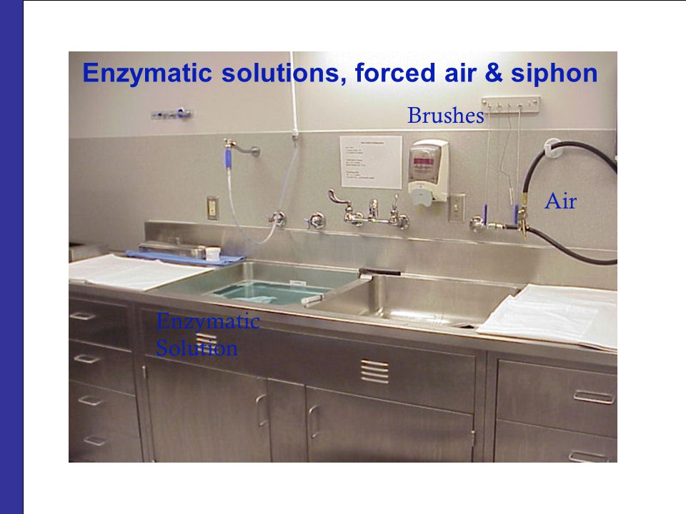 Enzymatic solutions, forced air & siphon