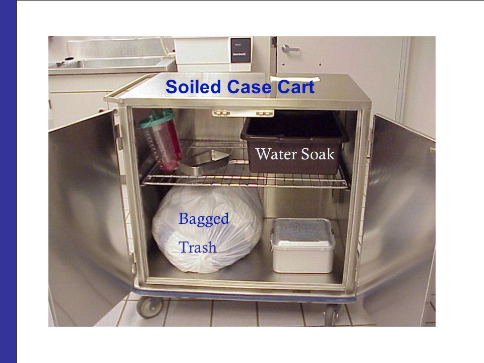 Soiled Case Cart Water Soak Bagged Trash
