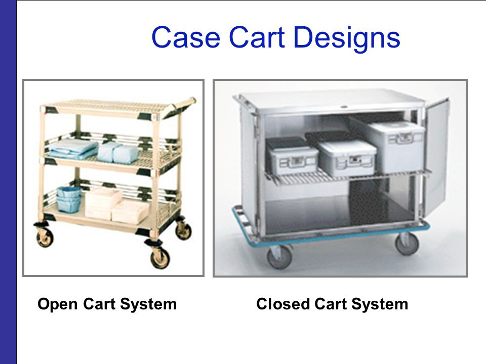 Case Cart Designs Open Cart System Closed Cart System