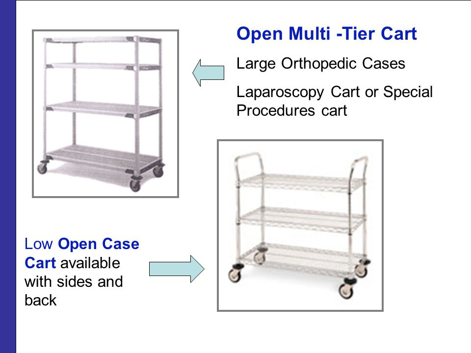 Open Multi -Tier Cart Large Orthopedic Cases