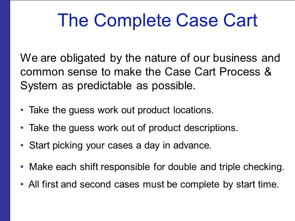 The Complete Case Cart