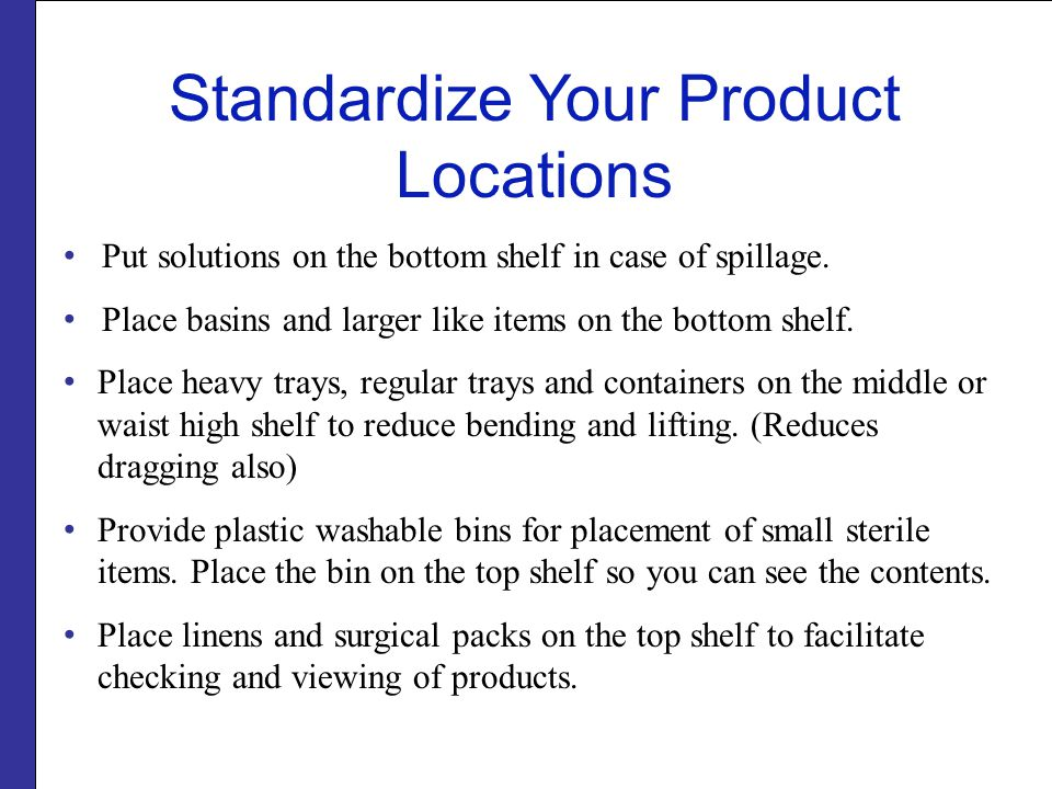 Standardize Your Product Locations