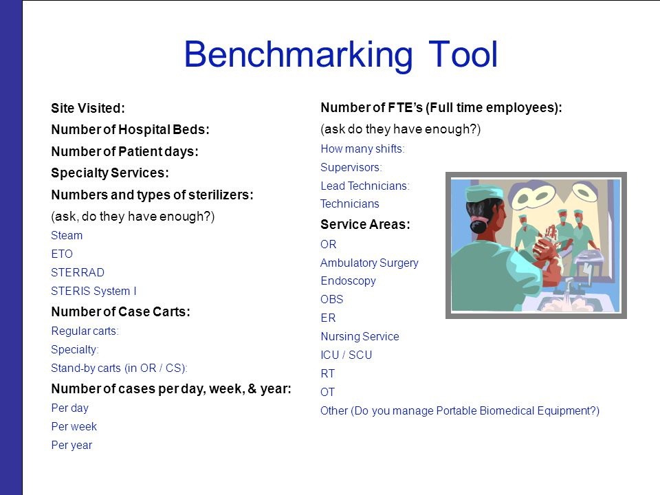 Benchmarking Tool Site Visited: Number of Hospital Beds:
