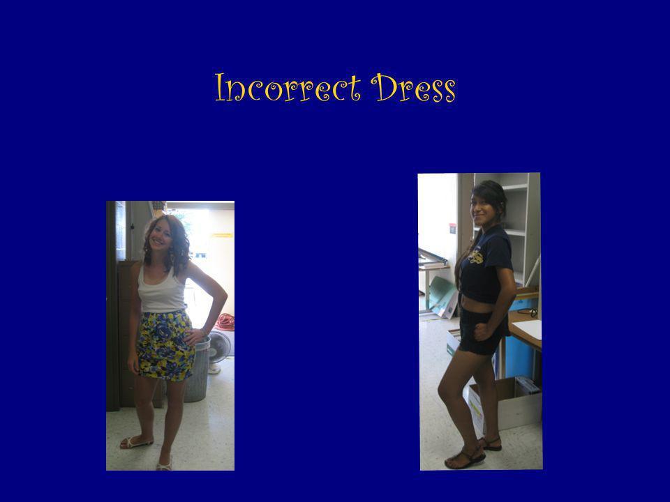 Incorrect Dress