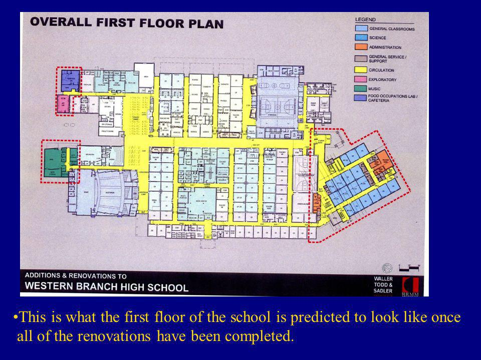 This is what the first floor of the school is predicted to look like once