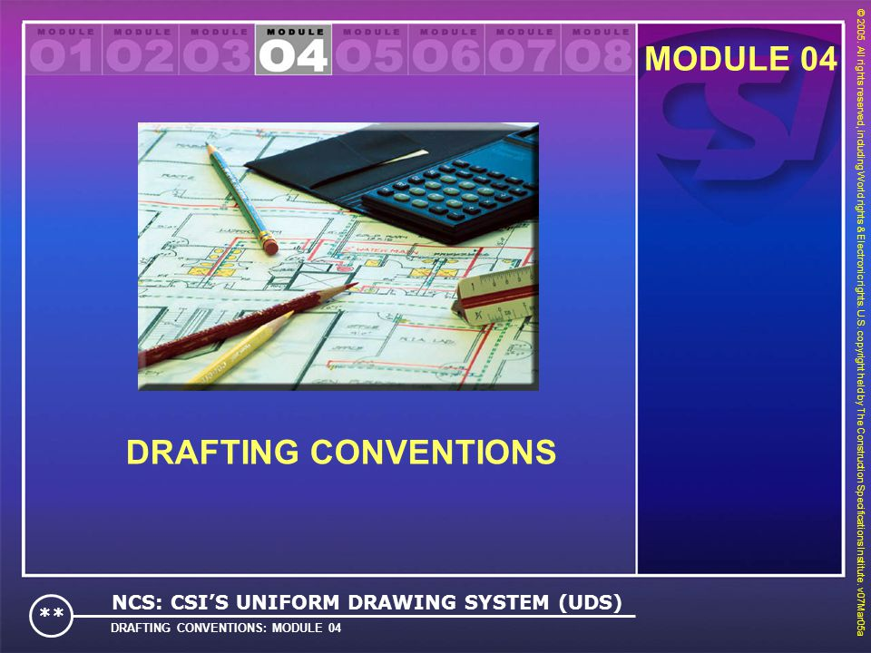 MODULE 04 DRAFTING CONVENTIONS