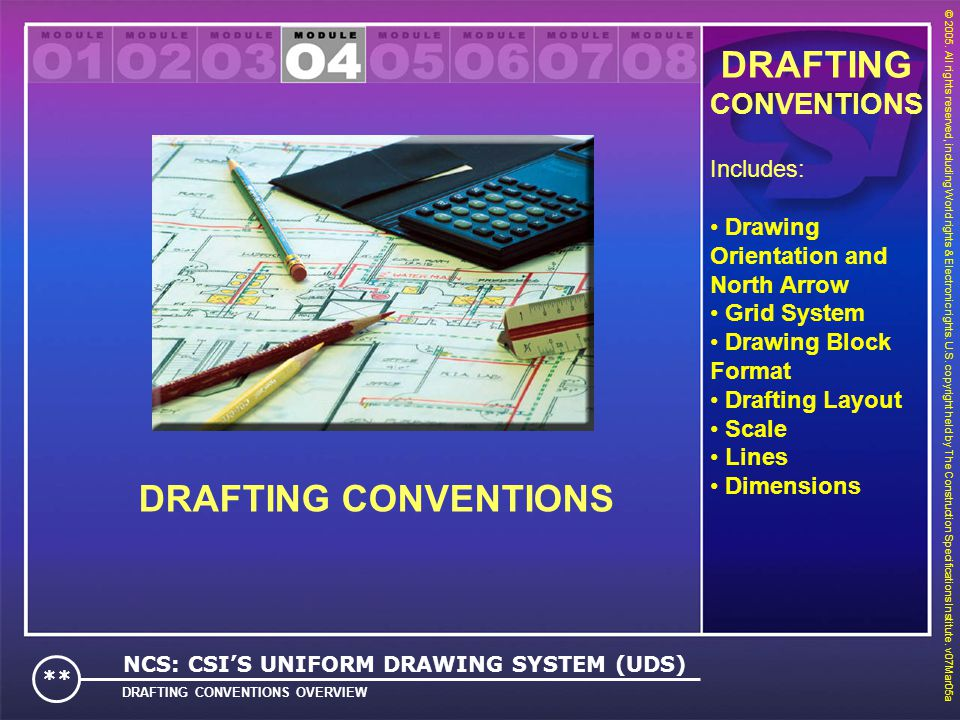 DRAFTING DRAFTING CONVENTIONS