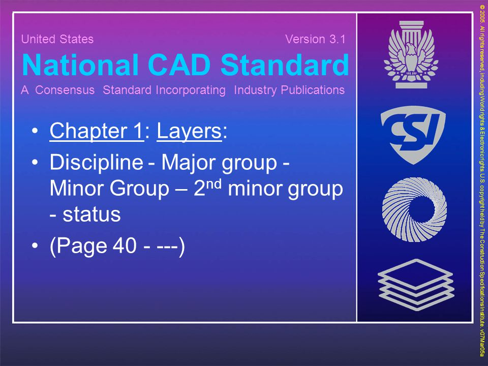 National CAD Standard Chapter 1: Layers: