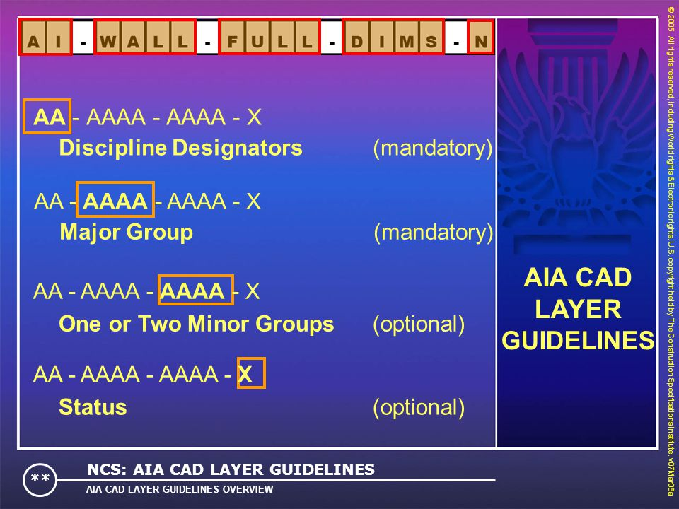 AIA CAD LAYER GUIDELINES AA - AAAA - AAAA - X