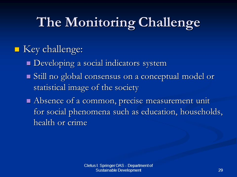 The Monitoring Challenge
