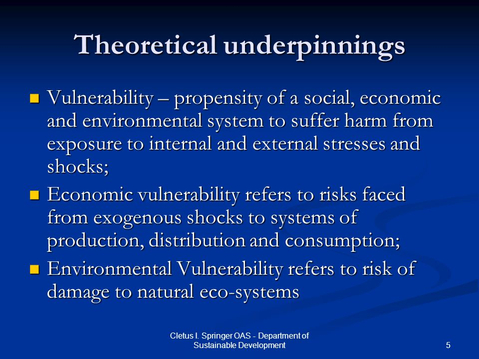 Theoretical underpinnings