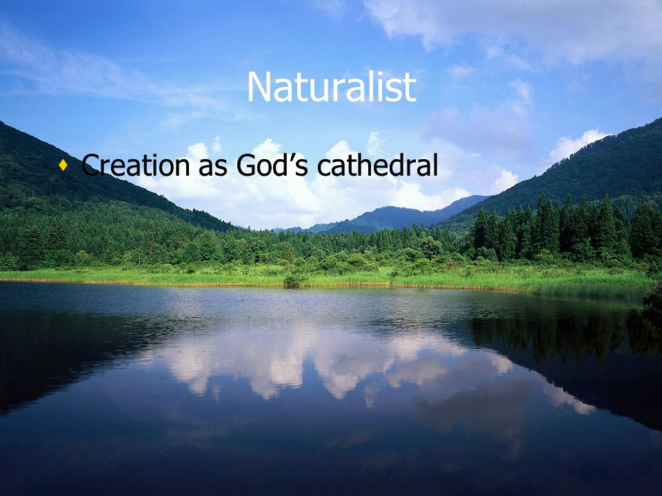 Naturalist Creation as God's cathedral
