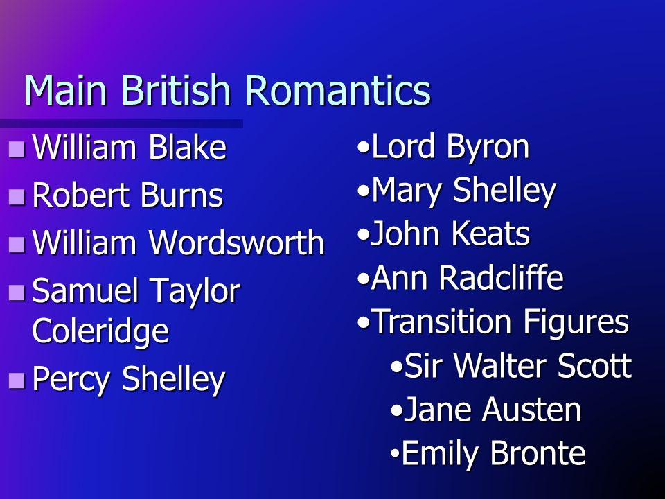 Main British Romantics
