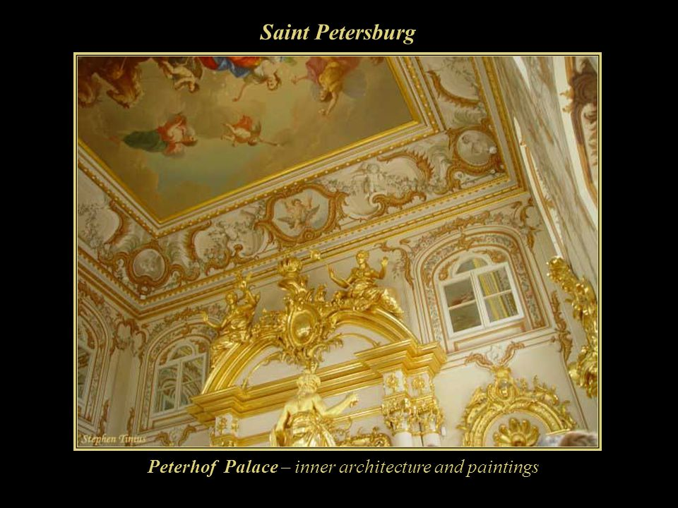 Saint Petersburg Peterhof Palace – inner architecture and paintings