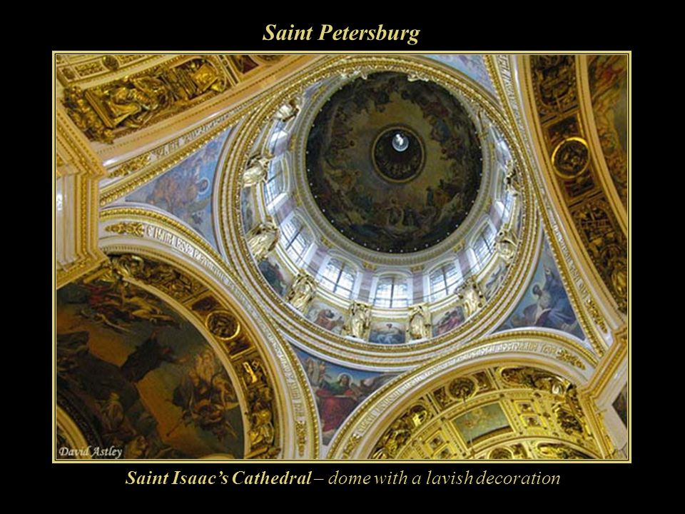 Saint Petersburg Saint Isaac's Cathedral – dome with a lavish decoration