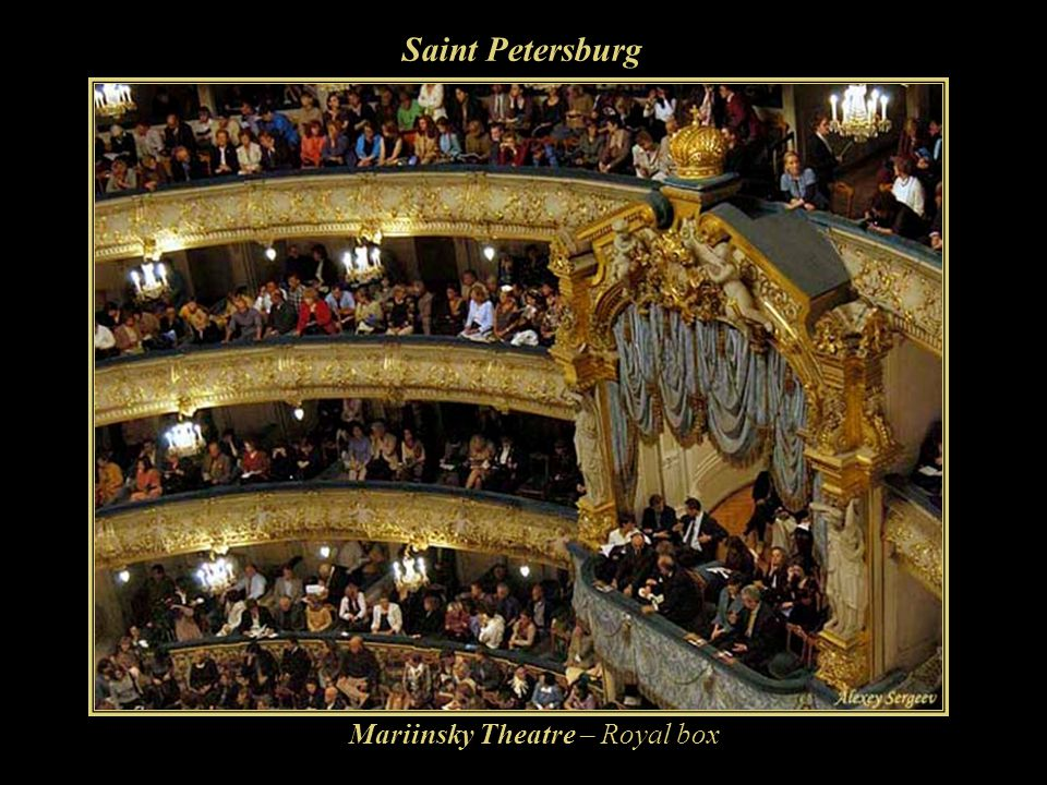 Saint Petersburg Mariinsky Theatre – Royal box