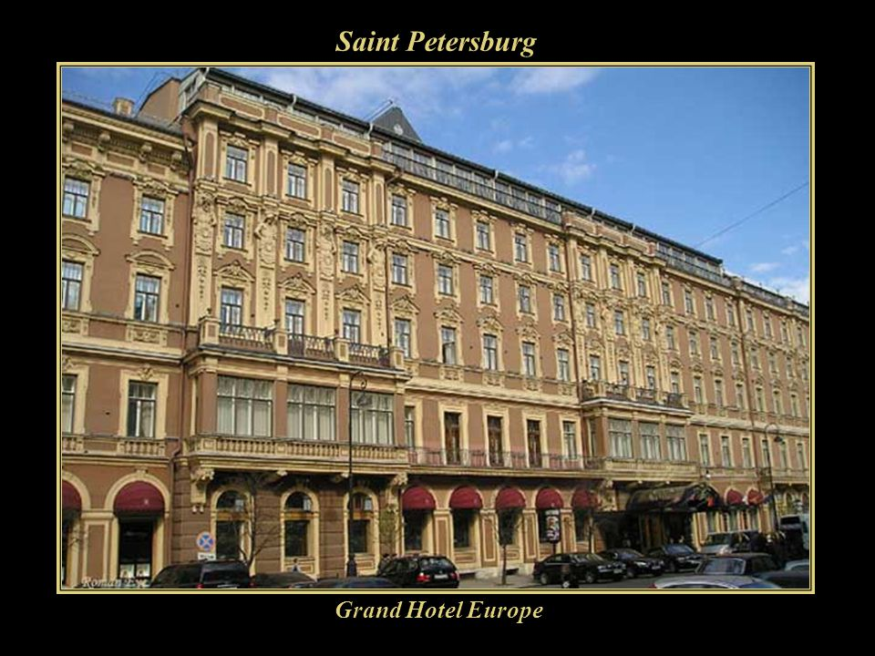 Saint Petersburg Grand Hotel Europe