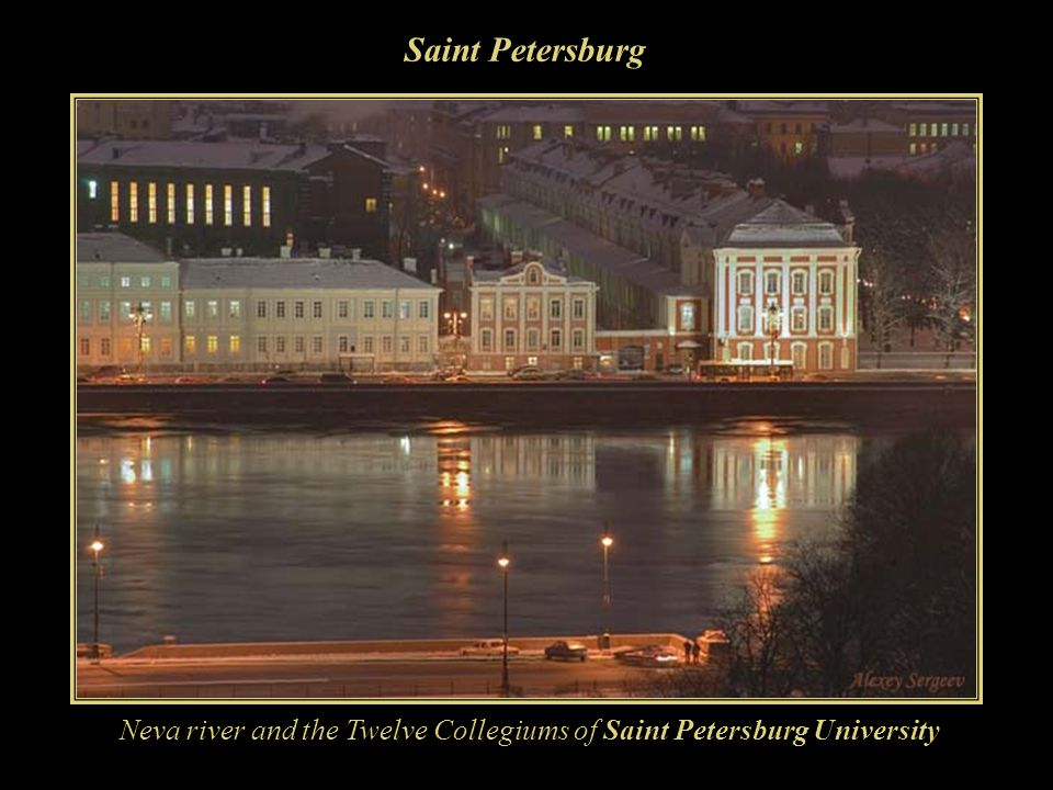 Neva river and the Twelve Collegiums of Saint Petersburg University