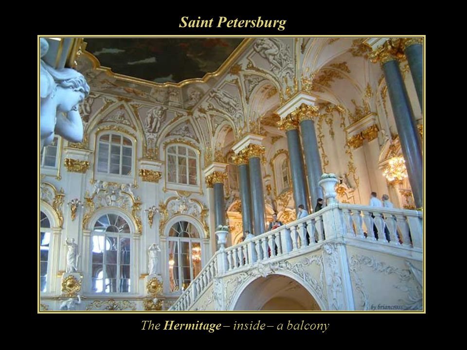 Saint Petersburg The Hermitage – inside – a balcony