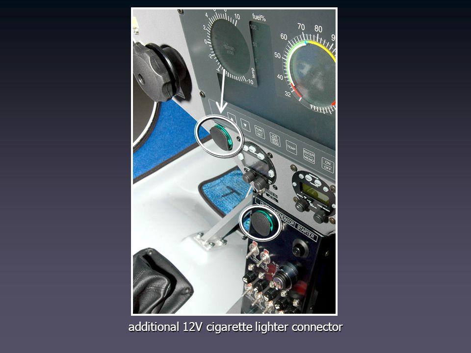 additional 12V cigarette lighter connector